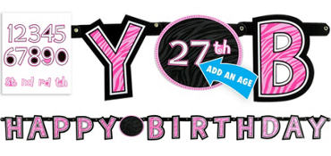 Another Year of Fabulous Birthday Banner