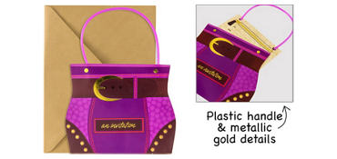 Premium Sliding Hip Handbag Invitations 8ct