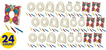 Sweet Wood Decoration Kits 24ct