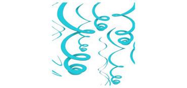 Caribbean Blue Swirl Decorations 12ct