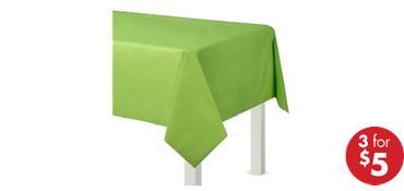 Kiwi Green Plastic Table Cover