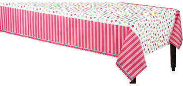 Pink Sweet Little Cupcake Table Cover