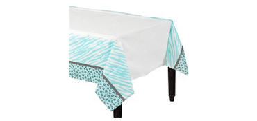 Blue Safari Baby Shower Paper Table Cover