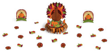 Thanksgiving Fringe Table Decorating Kit 23pc