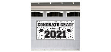 White 2013 Graduation Banner 65in