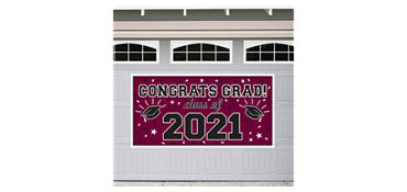 Burgundy 2013 Graduation Banner 65in