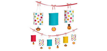 1st Birthday Fisher-Price Circus Lantern Garland 12ft
