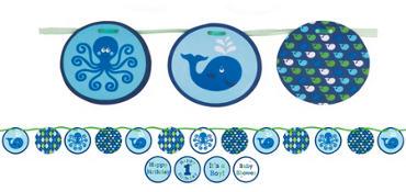 Ocean Preppy Paper Banner 5ft