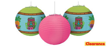 Summer Luau Paper Lanterns 3ct