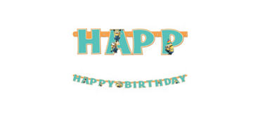 Despicable Me Birthday Banner