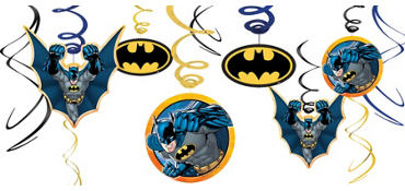 Batman Swirl Decorations 12ct