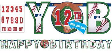 Rawlings Baseball Birthday Banner Kit