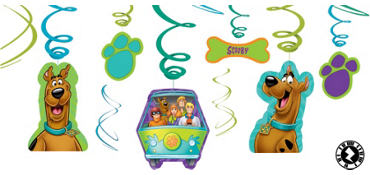 Scooby-Doo Swirl Decorations 12ct