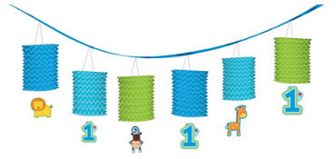 Wild at One Boy's 1st Birthday Paper Lantern Garland