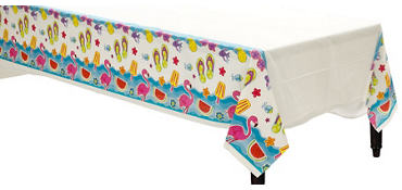 Summer Fun Plastic Table Cover