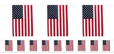American Flag Pennant Banner