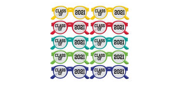 Multicolor Class of 2016 Printed Glasses 10ct