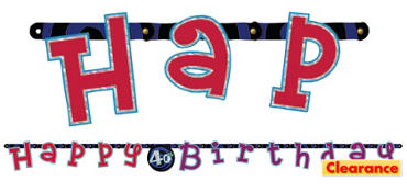 Oh No 40th Birthday Banner