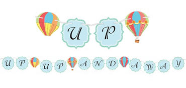 Up & Away Baby Shower Letter Banner