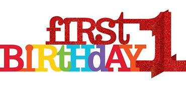 3D Glitter Rainbow 1st Birthday Centerpiece
