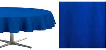 Royal Blue Round Fabric Tablecloth