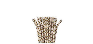 Gold Diamond Paper Straws 24ct