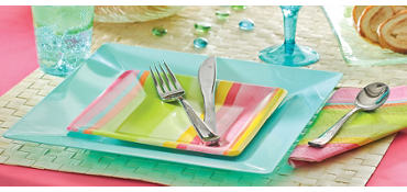 Pink Sunny Stripe Party Supplies