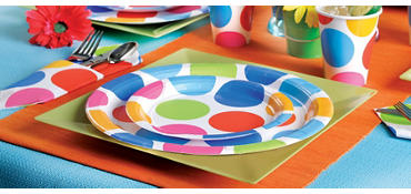 Cabana Polka Dot Party Supplies