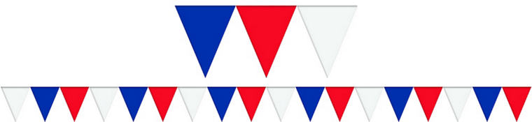 Red, White & Blue Pennant Flag Banner