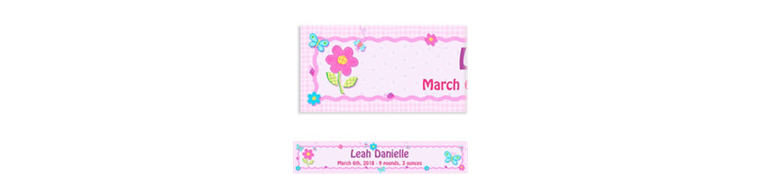 Custom Hugs & Stitches Girl Baby Shower Banner 6ft