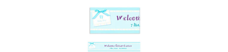 Custom Baby Soft Blue Baby Shower Banner 6ft