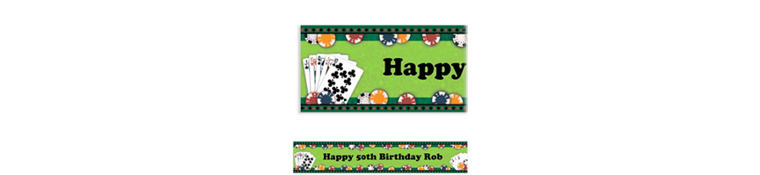Custom Poker Party Banner 6ft