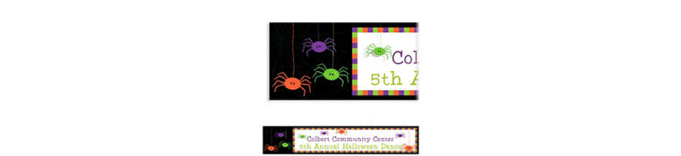Spider Frenzy Halloween Custom Banner