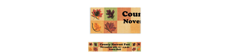 Custom Autumn Hues Banner 6ft
