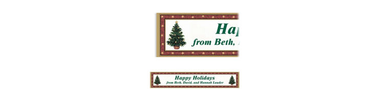 Custom Classic Christmas Tree Banner 6ft