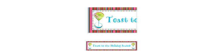 Custom Holiday Cocktail Banner 6ft