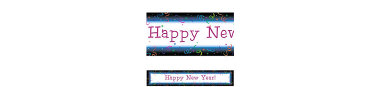 Custom Countdown Celebration New Year's New Year's Banner 6ft
