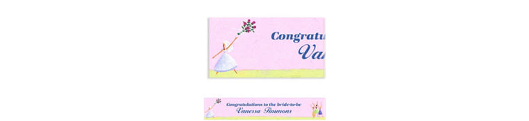 Promise of Love Custom Bridal Shower Banner