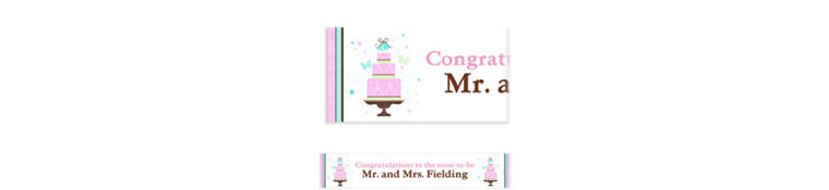 Blushing Bride Custom Bridal Shower Banner