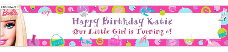 Barbie Custom Birthday Banner 6ft