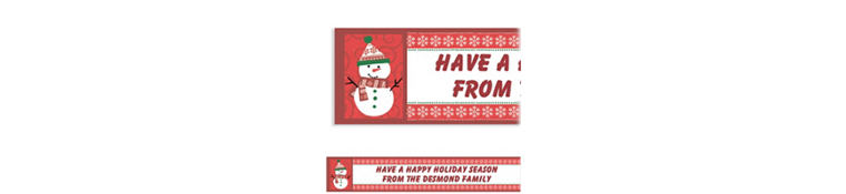 Custom Very Merry Snowman Banner 6ft