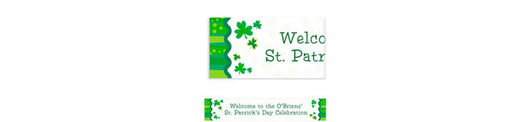 Custom Lucky Wishes St. Patrick's Day Banner 6ft