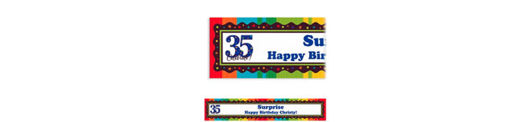 A Year to Celebrate 35 Custom Banner 6ft