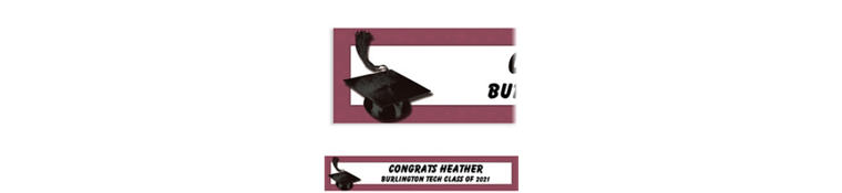 Custom Berry Congrats Grad Banner 6ft