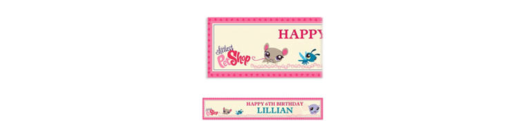 Littlest Pet Shop Custom Banner 6ft