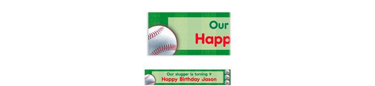 Custom Baseball Fun Banner 6ft