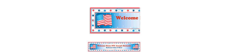 Star Spangled Banner Welcome Home Custom Banner