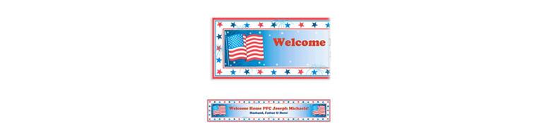 Custom Star Spangled Banner Welcome Home Banner 6ft