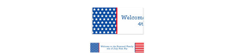 Custom Red, White & Blue Stars Patriotic Banner 6ft