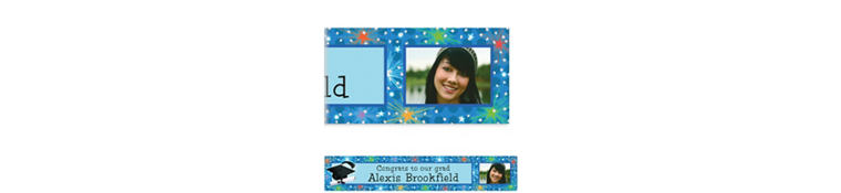 Custom Dazzling Grad Photo Banner 6ft